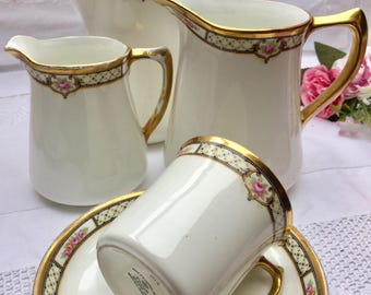 Darling Downton Abbey Vintage Sutherland Teapot, Two Pitchers, Teacup and Saucer