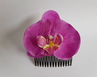 Mistress of all Evil - Hair Flower - Orchid - Summer - Rockabilly - Vintage - Rose - Purple - 50's - Rock'n'Roll - Pin up