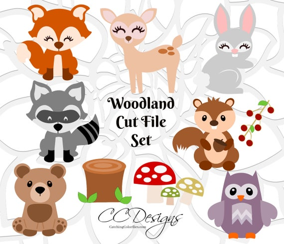 Baby Woodland Animal Cut Files Forest Animal Svg Files Baby