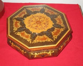 "1960's Inlaid Wood Reuge Music Box ""The Shadow Of Your Smile"" Made In Italy! #DL"