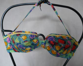 vintage cotton bikini printed multicolored t.38
