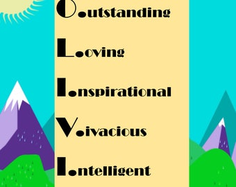 Special Nameplate - Olivia - Printable Downloadable Design