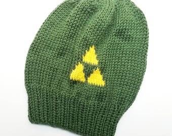 Triforce Slouch Hat - Legend of Zelda Hat - Breath of the Wild Slouch Hat - LoZ Slouch Hat - Knit Slouch Hat - Knit Hat