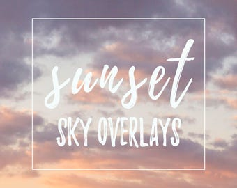 Sky overlay bundle sunset 12 pack