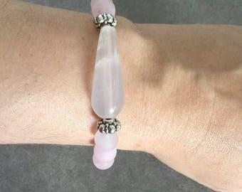 "Please energized Bracelet ""Love and gentleness"" well, be gentle rose quartz"