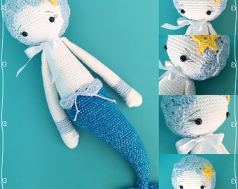 Mici the mermaid inspired by a pattern by Lalylala