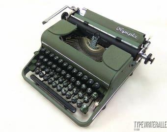 The BEST typewriter EVER !!! Rare German beauty. OLYMPIA SM1 1950, Olympia typewriter, vintage typewriter, working typewriter.