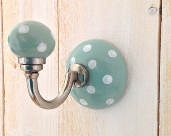 Ceramic wall hook - dream hook Mint / light green