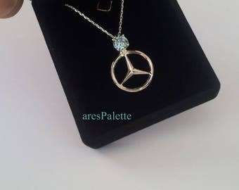 Mercedes necklace etsy for Mercedes benz pendant
