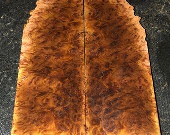 Stabilized York Gum Burl Knife Scales E-028