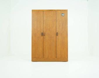 D264 Danish Mid-Century Modern Teak Wardrobe Armoire Closet Dresser by G Plan