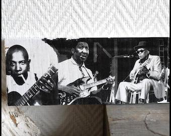 "Transfer image on wood ""Blues"""