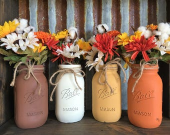 Fall Mason Jar Set