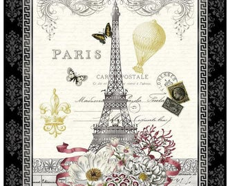 SALE** Salon Fleur - Panel - Studio e - Paris in Spring!!  Eiffel Tower