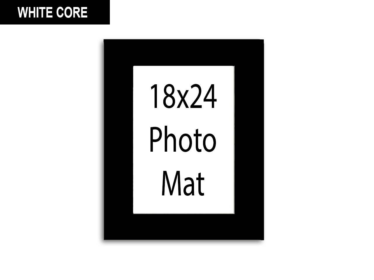 Multiple Colors Any Opening Size 18x24 Photo Mat