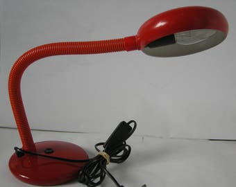 Aluminor Goose Neck Red desk/table lamp  1970s