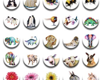 A selection of Pattern weights designed by Artist Maria moss pop art Designs fabric weights