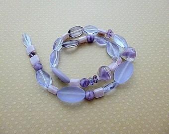 Mix of glass beads pressed - CBMIX-0783
