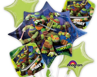 Ninja Turtles Birthday Balloons Teenage Ninja Mutant Turtles Party Balloons Kids Birthday Turtle Balloons