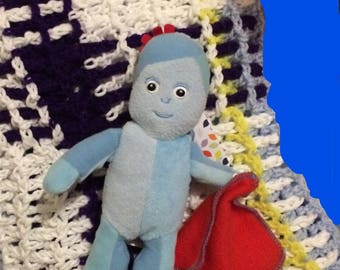 Hand Made Crochet Plaid Lap Pram Cot Blanket Baby Toddler Child