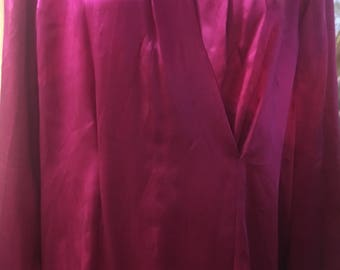 1990's Fuchsia Color Starington Blouse by Charlotte for Saks Fifth Avenue Size: 12