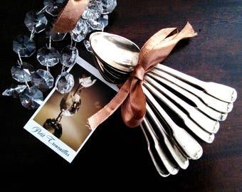 Silver plated teaspoons.