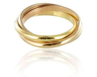 3 gold rings