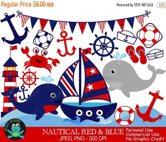 75 off sale nautical clipart commercial use digital clipart