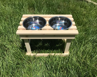 Elevated Dog Bowl Stand / Pet Feeder / Raised Dish Stand