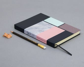 Marble Luxury Journal - 200 Plain Pages A5 Notebook