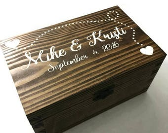 keepsake box - trinket box - wedding box - birthday box - photo box - hand painted box - custom keepsake box - custom trinket box