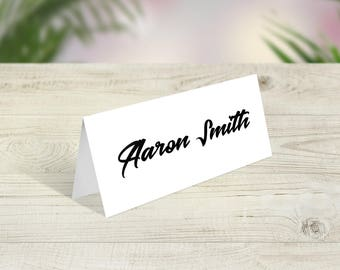 White Wedding Place Cards, Wedding Place Names, Modern Place Names, Industrial Place Names, Urban Theme, Boho Table Decor, Tent Name Card