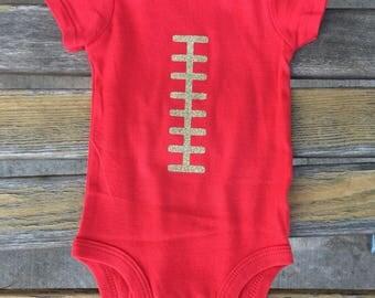 Football laces onesie bodysuit - 49ers