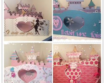 Photo album in the shape of a castle that can display on a bedroom Dresser