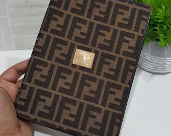 Authentic Fendi Zucca FF Dairy/Noted Book