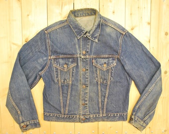 "Vintage 1960's/70's LEVIS ""BIG E"" Type III Trucker Denim Jean Jacket / Retro Collectable Rare"