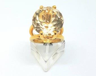 Orange Topaz ring,Best anniversary gift