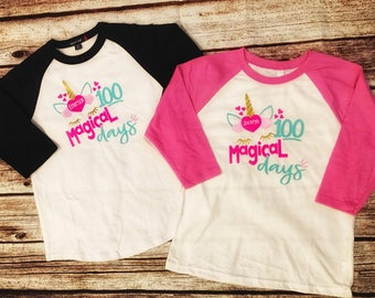 Girls 100 Days Shirt, 100 Days of School Shirt, Girls 100 Days Smarter Shirt, 100 Days of School Raglan, Kids 100 Days o School Shirt