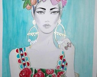 Mambo - Original Watercolor