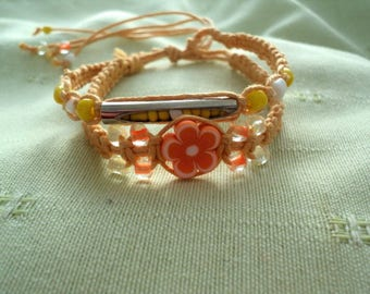 Child-plastic macramé Beads Bracelet