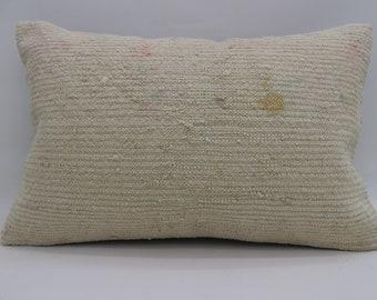 16x24 Pillows Striped Pillow Bohemian Pillow 16x24 White Pillow Yellow Pillow Distressed Pillow Throw Pillow Cushion Cover SP4060-1308