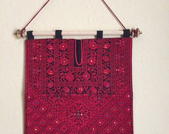 Handmade cross stitch Palestinian wall art