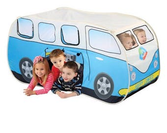 VW Bus Shaped Kids Pop Up Play Tent Volkswagen T1 Van Vanagon C&er  sc 1 st  Etsy & Vintage play tent | Etsy