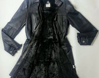 Versace very very VIP fur leather coat exclusive