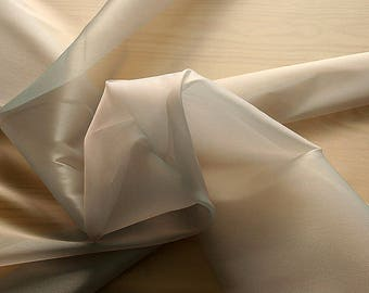 232083-Organdy natural Silk Cangiante 100%, litmus, width 135/140 cm, made in Italy, dry cleaning, weight 55 gr