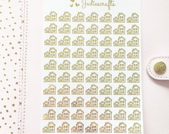 Foil House/Home Stickers | Planner Stickers