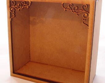 1:24 scale miniature small wall hanging roombox kit for collectors