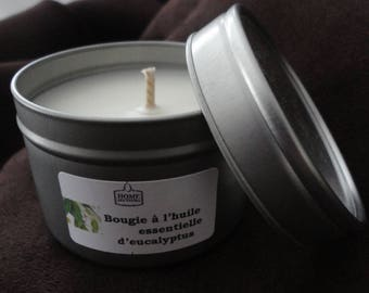 """Natural candle with essential oils """"of Lemon Eucalyptus"""""""