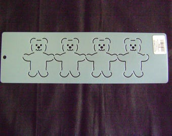 Traditional Quilting Stencil 3 in. Bear Motif Border/Quilting