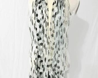 Vintage Polka Dots Scarf Women's Scarf